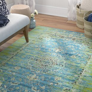 Neuilly Blue Green Area Rug