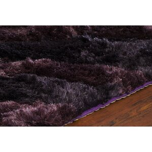 helene shag purple area rug