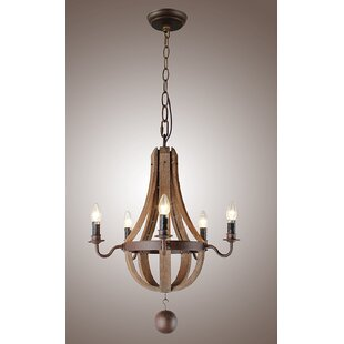 wine barrel lighting. Thayer Vintage French Wood 5-Light LED Empire Chandelier Wine Barrel Lighting