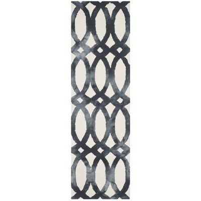 Zipcode Design Edie Hand-Tufted Cotton/Wool Graphite Area Rug Rug Size: Runner 2'3 x 8'