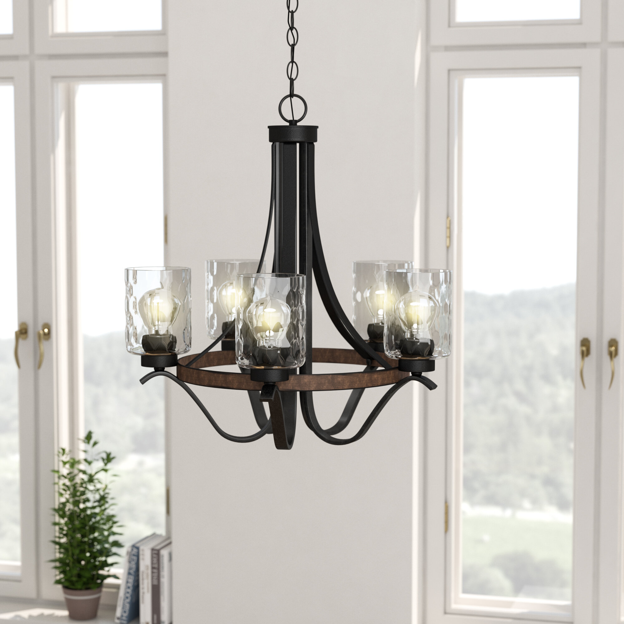 Laurel Foundry Modern Farmhouse Sabo Indoor 5 Light Candle Style