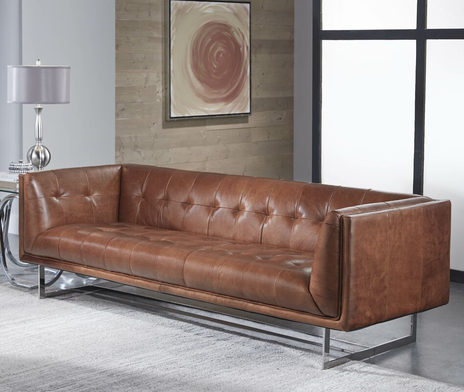 17 Stories Gulielma Leather Chesterfield Sofa& Reviews Wayfair