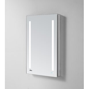 Donnelly 30 X 24 Recessed Or Surface Mount Frameless Medicine Cabinet With 4 Shelves And Led Lighting