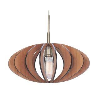Wood pendant lights youll love wayfair bair wicks canopy 1 light pendant aloadofball Gallery