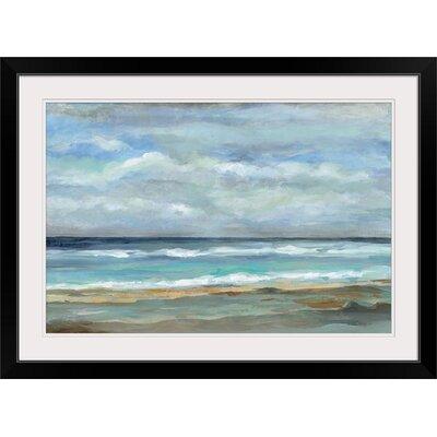 Three Posts 'Seashore' Print Format: Black Frame, Size: 24 H x 32 W x 1 D