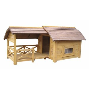 Houses & Pawsu2122 Wooded Lux Dog House