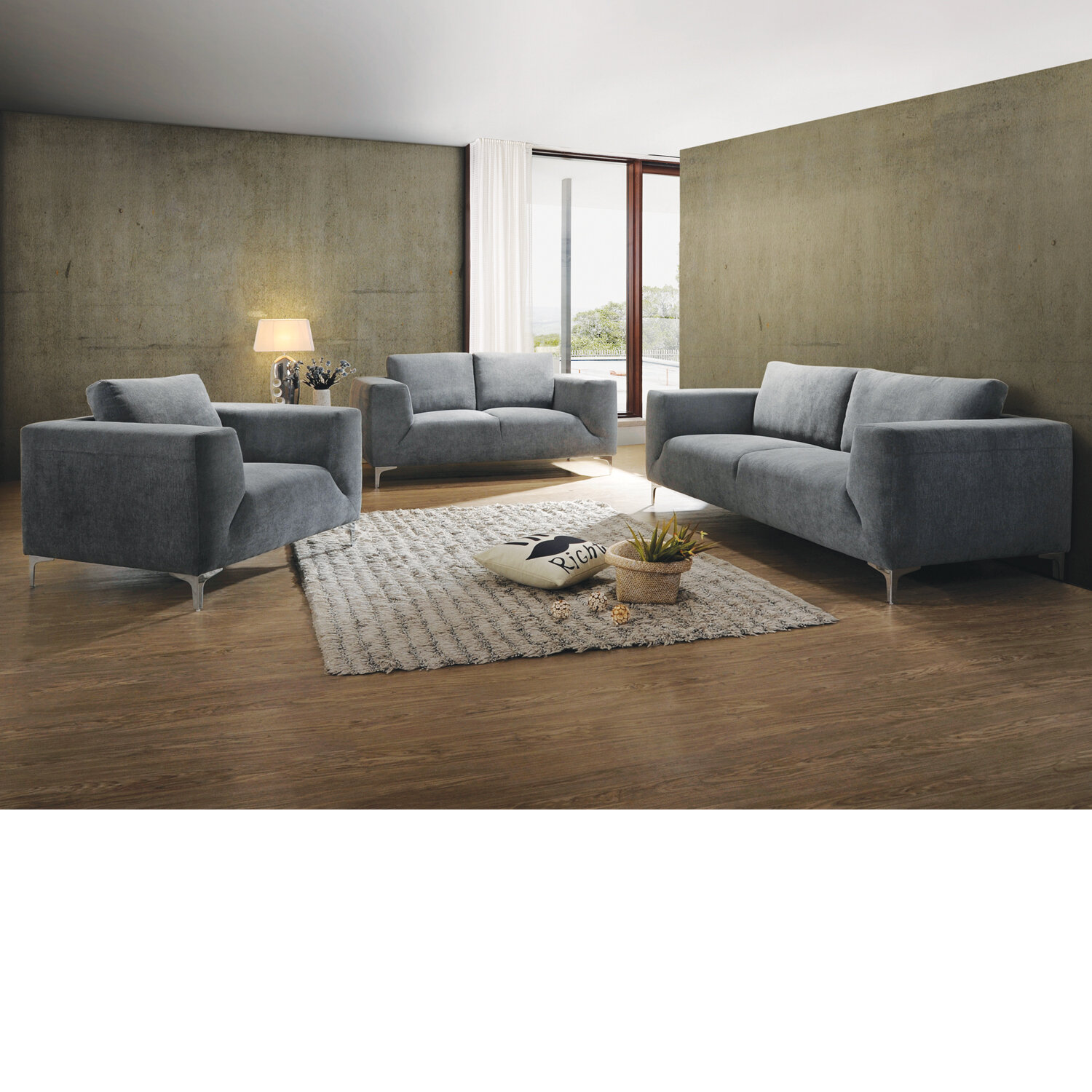 Brubaker 3 Piece Living Room Set & Reviews | AllModern