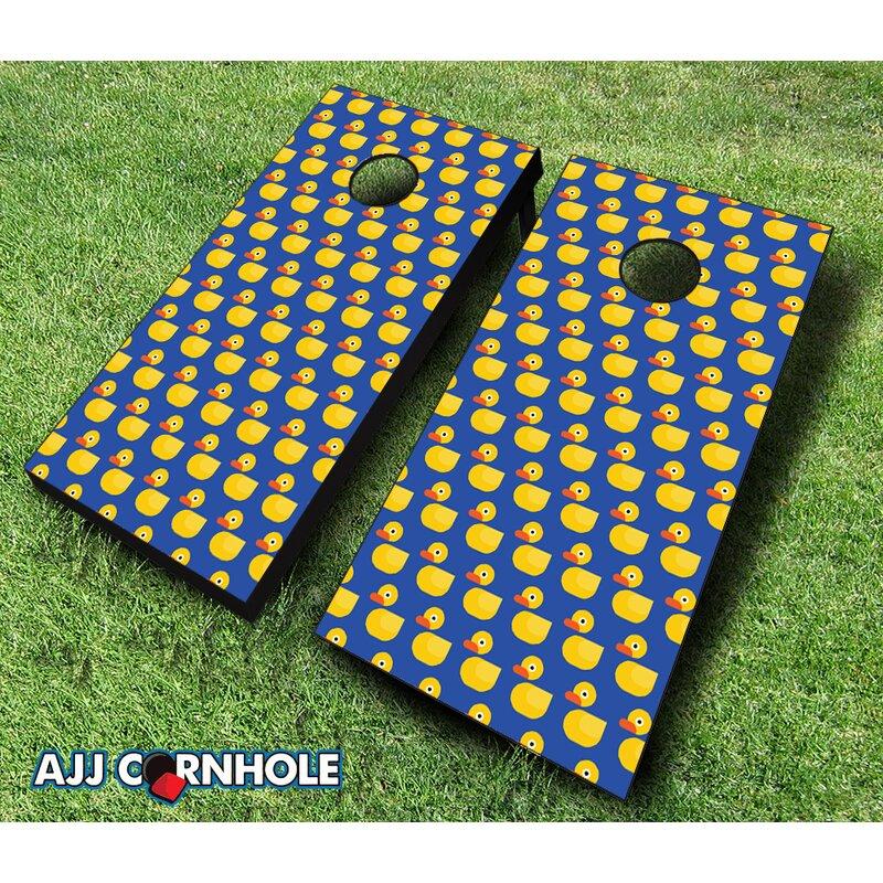 AJJCornhole Rubber Duck Cornhole Set Wayfair Enchanting Corn Hole Pattern