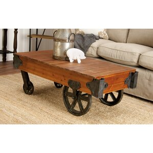 Wood and Metal Coffee Table Cart by Co..