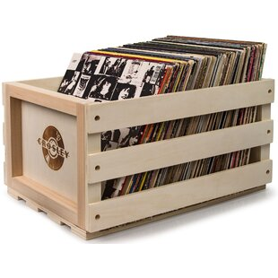 Record Storage Solid Wood Crate