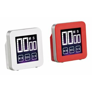 Touch Screen Digital Kitchen Timer (Set Of 2)