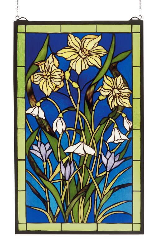 Spring Bouquet Stained Glass Window