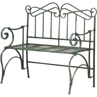 Verdi Antique Metal Garden Bench