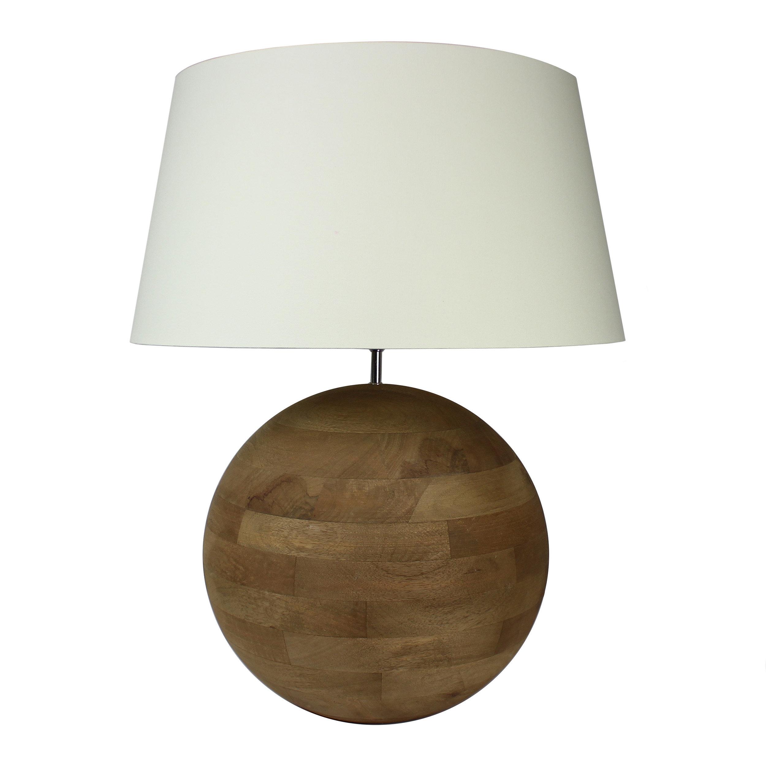 Union rustic ganya sphere handcrafted 27 table lamp wayfair
