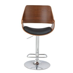 Alouette Bent Wood Swivel Bar Stool by Corrigan Studio