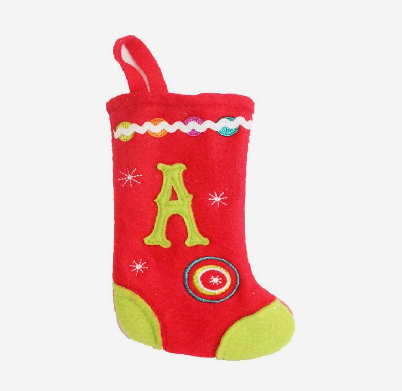 c3562b5ad21 The Holiday Aisle Monogrammed A Mini Christmas Stocking