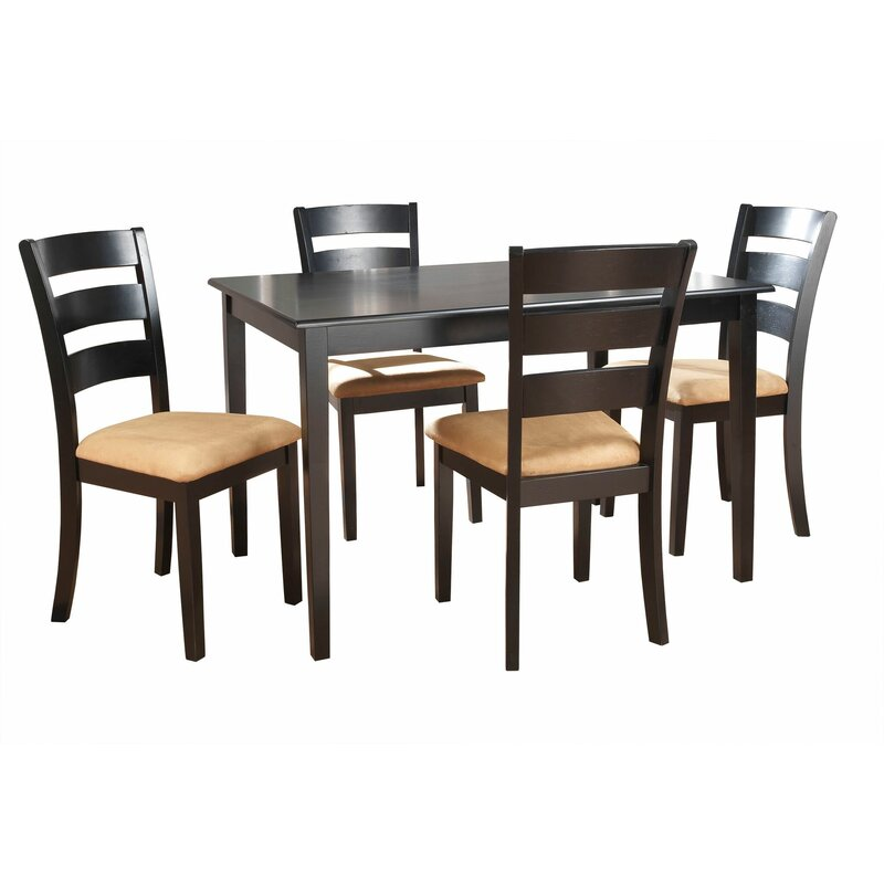 Andover Mills Oneill 5 Piece Ladder Back Dining Set