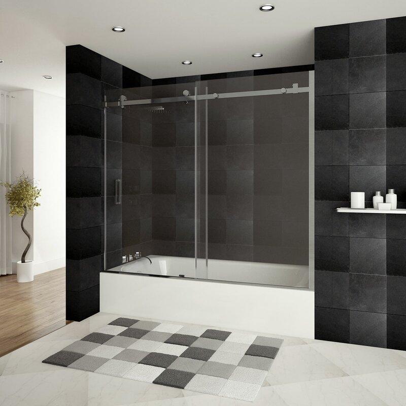 fascinating cleaning bathroom sliding door pictures