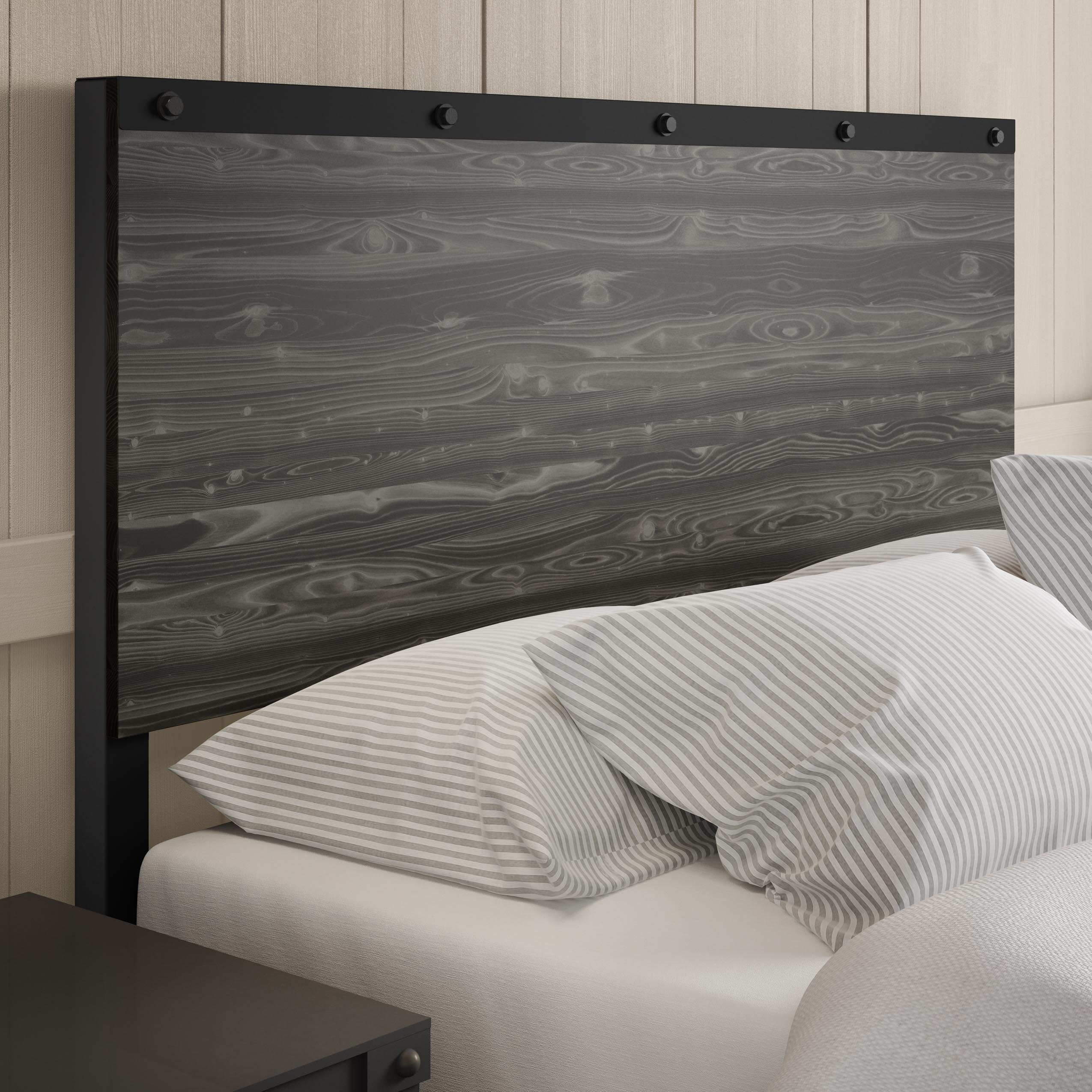 north furniture headboard gray custom rustic shore from style headboards herringbone bed pin co cottage vancouver