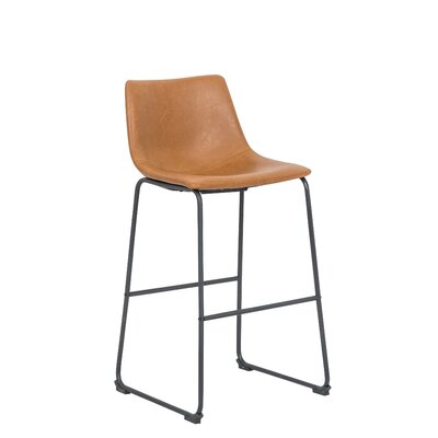 Faux Leather Full Back Bar Stools You Ll Love In 2019