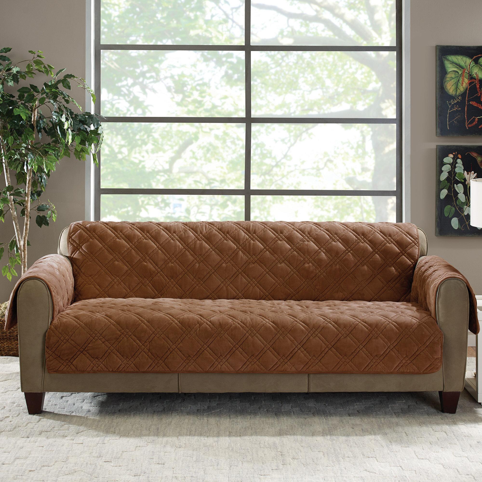 Plush Comfort Box Cushion Sofa Slipcover
