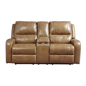 clevenger leather reclining loveseat