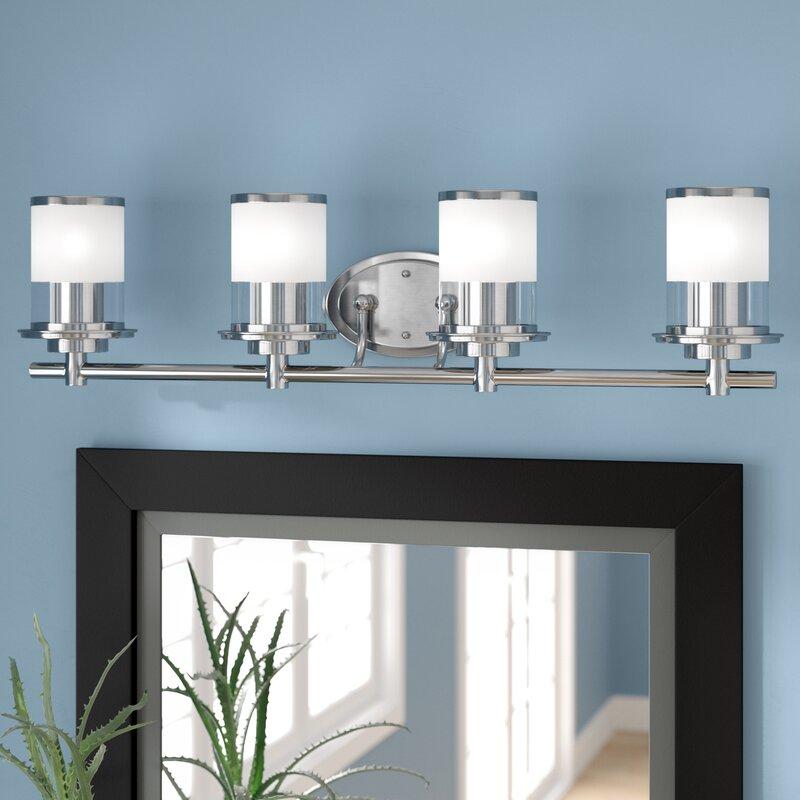 4 light vanity brushed nickel davis 4light vanity light zipcode design reviews wayfair