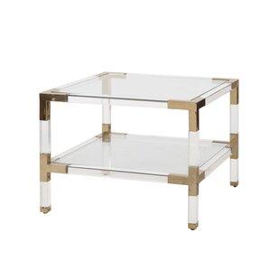 2 Tier Acrylic End Table