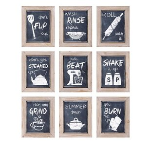 Beau 9 Piece Kitchen Inspirations Wall Decor