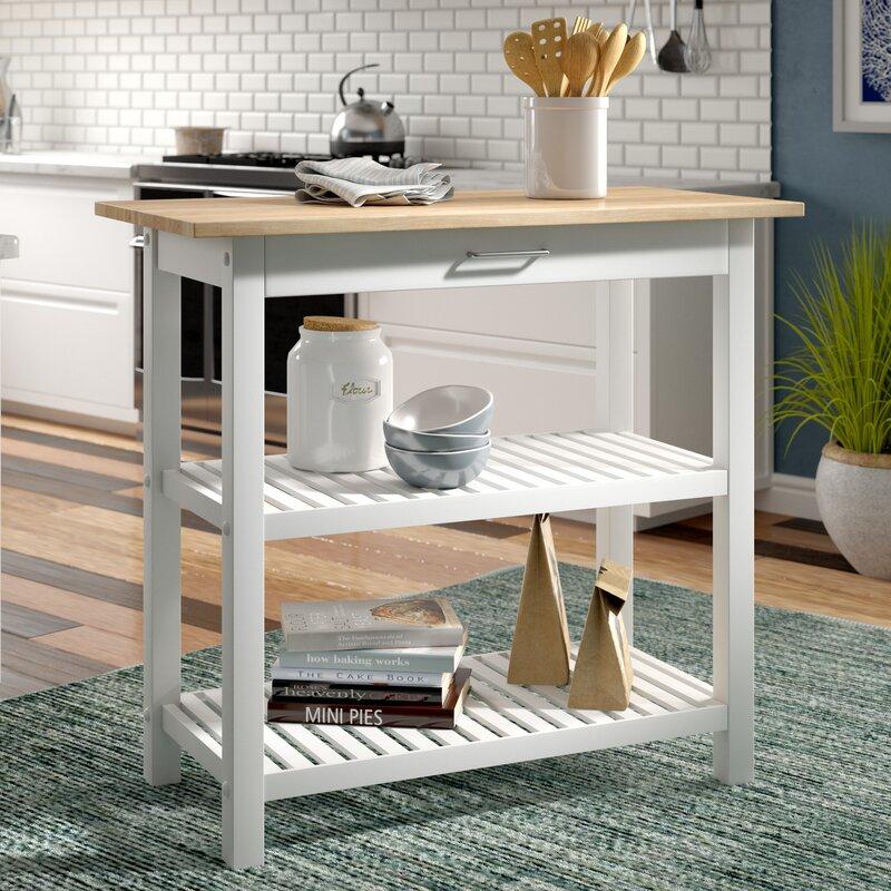 Beachcrest Home Lakeland Kitchen Island & Reviews