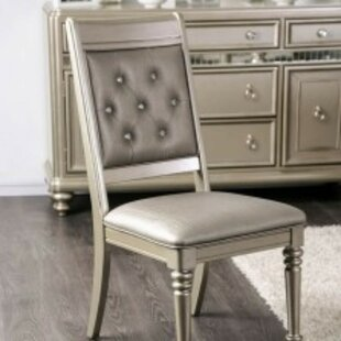Nita Genuine Leather Upholstered Dining Chair (Set of 2)