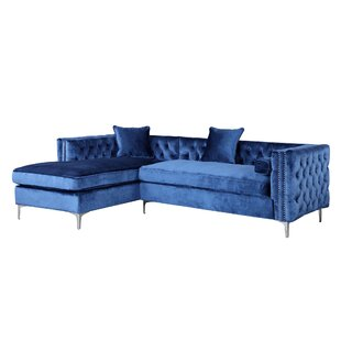 outlet sectional a blue fabric los sofa poundex furniture peta steal