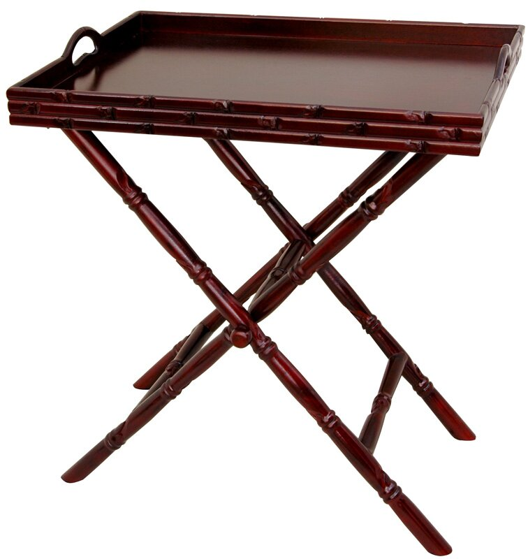 Tea Tray And Trestle Stand Set