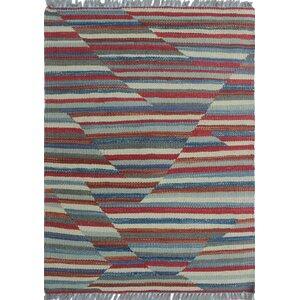 Troy Kilim Hand Woven Wool Rust Area Rug