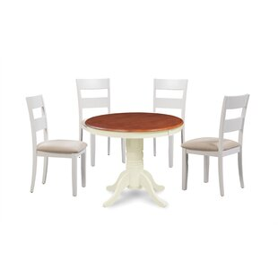 Avula Fulantville Solid Wood 5 Piece Solid Wood Dining Set