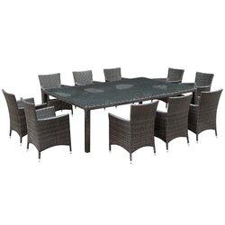 Modway Alfresco 11 Piece Dining Set with Cushions & Reviews   Wayfair