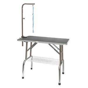 Heavy Duty Stainless Steel Dog Grooming Table with Arm