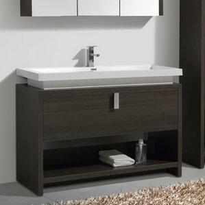 48 inch bathroom vanities you 39 ll love wayfair for Levi 29 5 single modern bathroom vanity set
