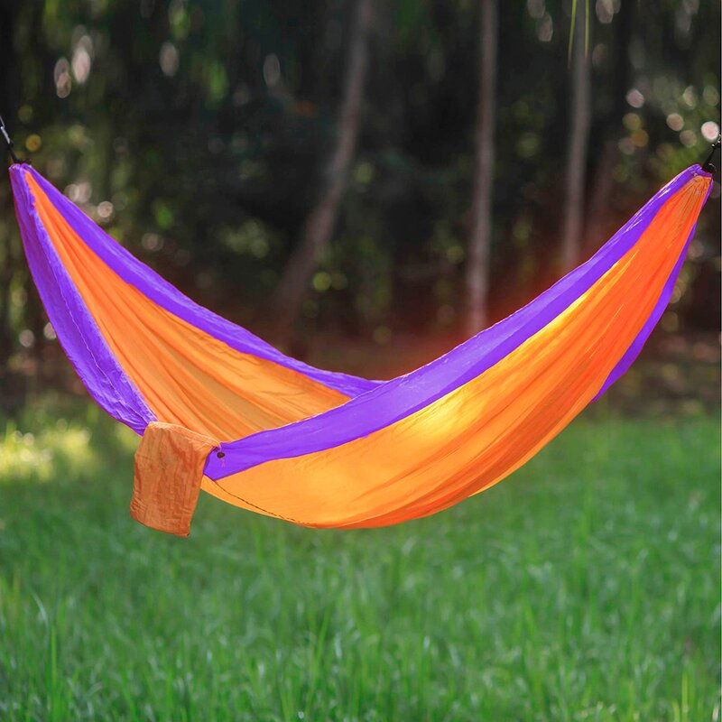 Freeport Park Karley Sports Force Double Camping Hammock  Color: Orange/Purple