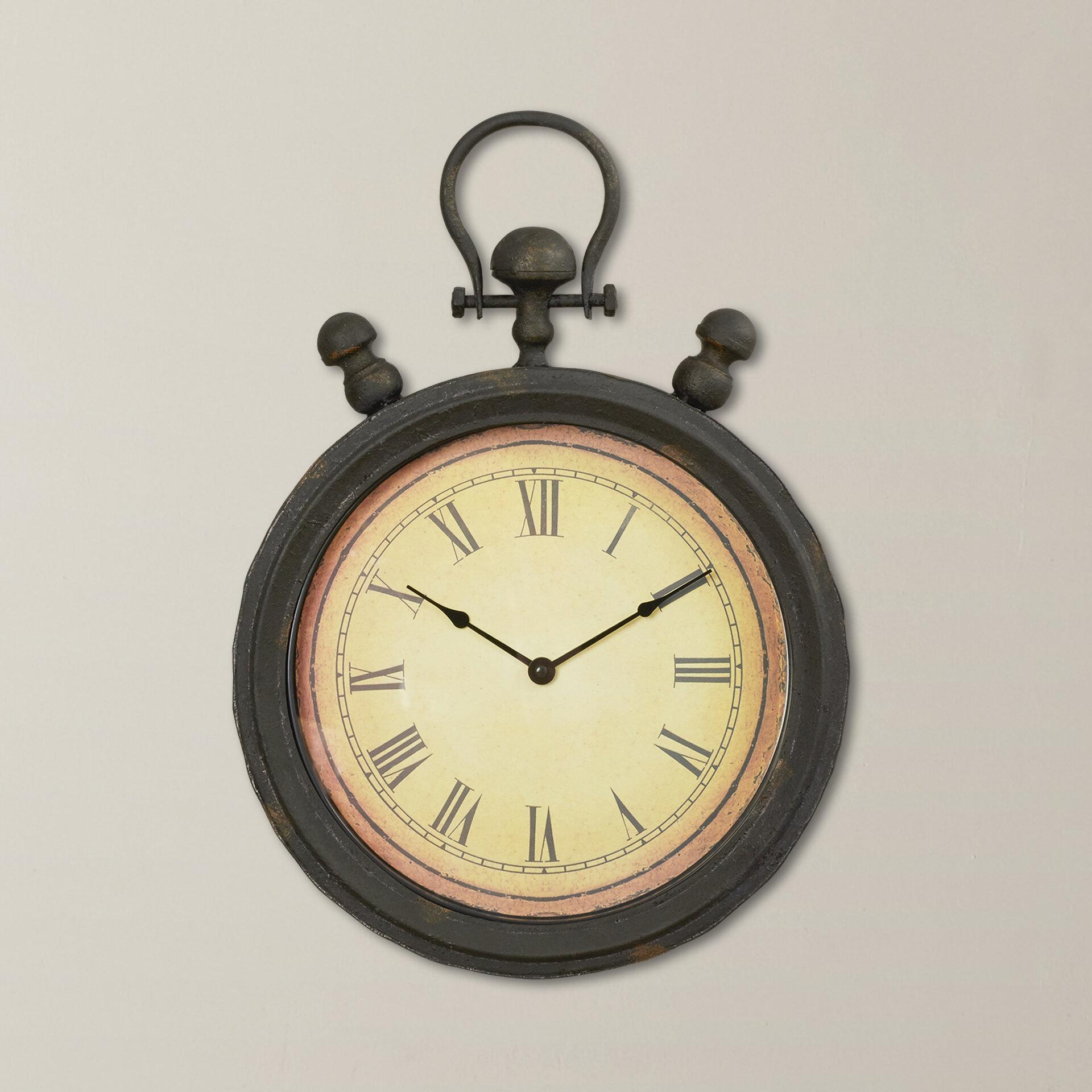 Trent Austin Design Antique Stopwatch Metal Wall Clock | Wayfair