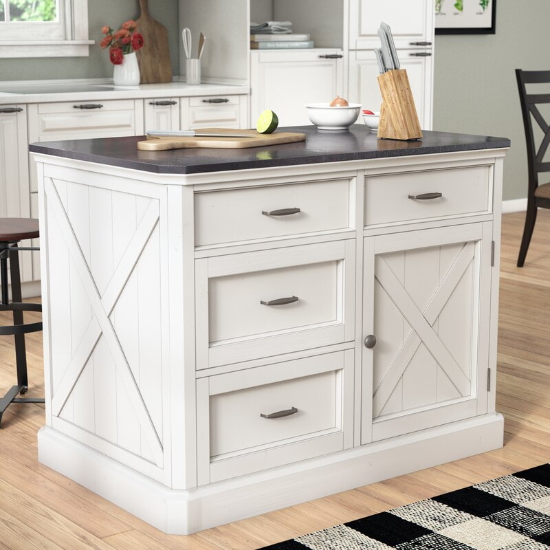 Kitchen Island Top: Laurel Foundry Modern Farmhouse Ryles Kitchen Island With