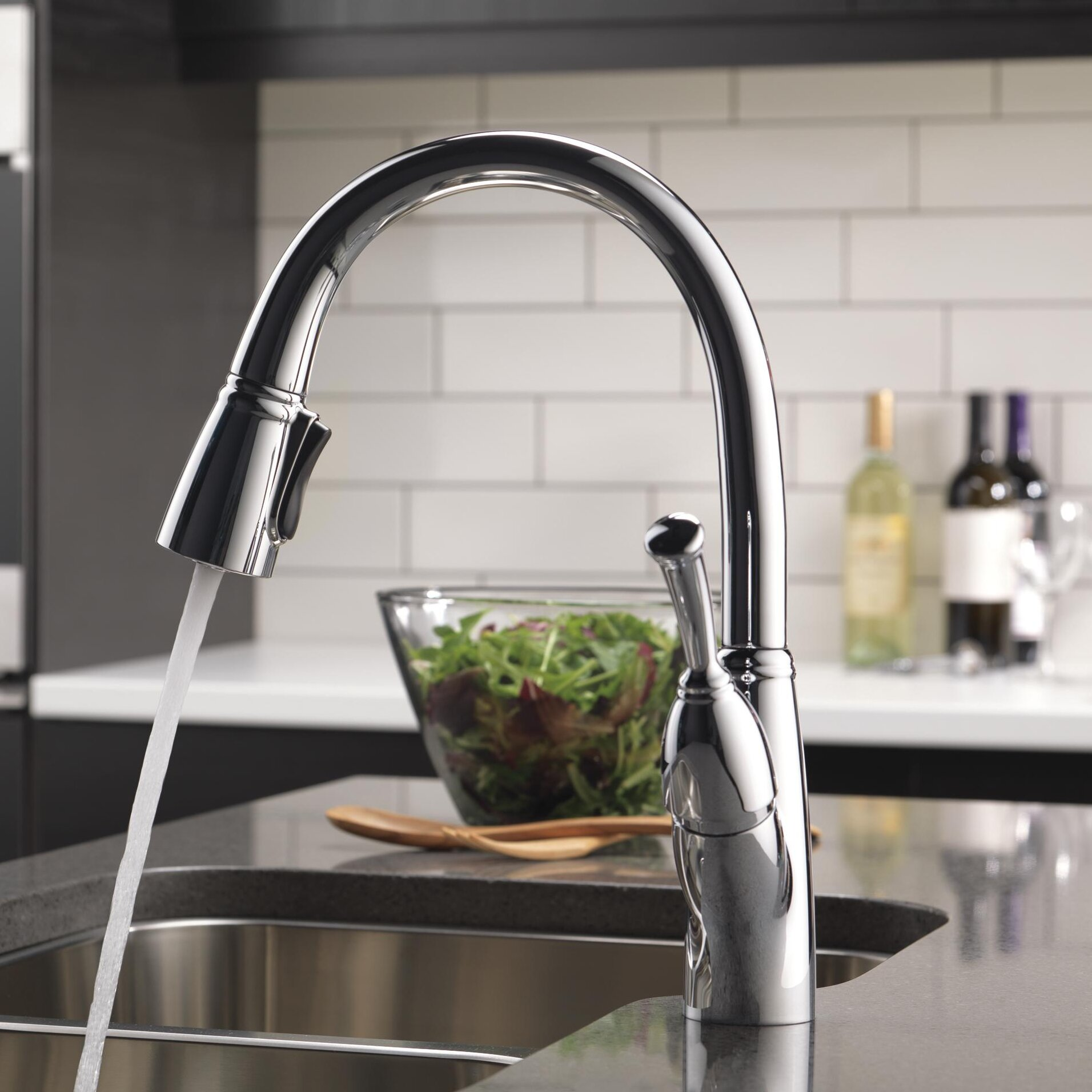 Delta Allora Pull Down Touch Single Handle Kitchen Faucet with
