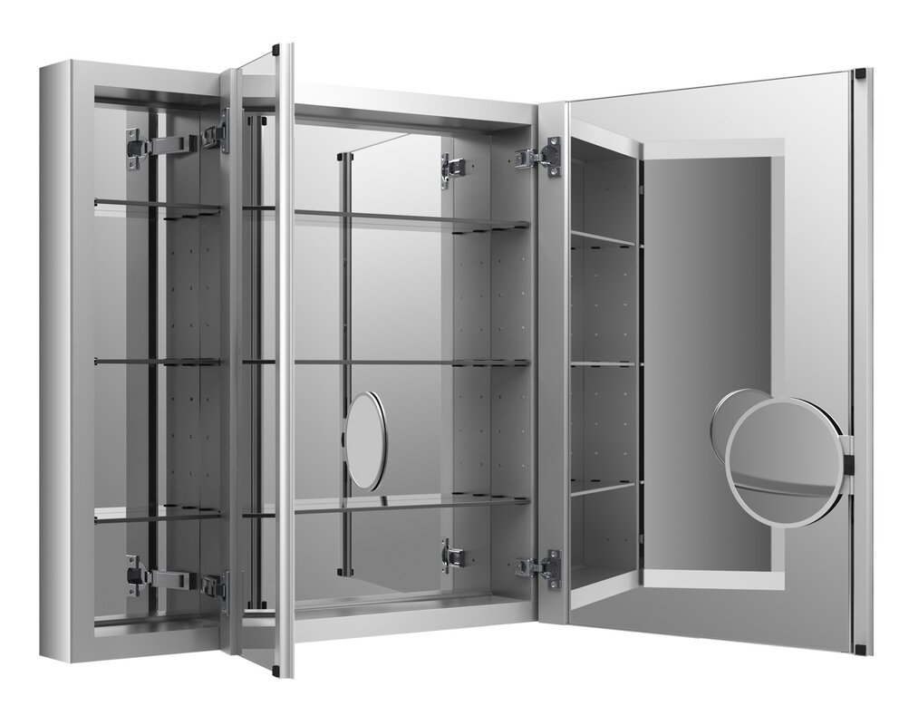 verdera aluminum medicine cabinet with adjustable flip out flat mirror w x  h. medicine cabinets you'll love