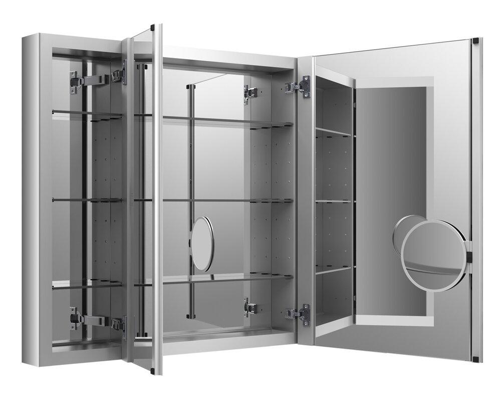 Bathroom Mirror Cabinet W Led Lights Adjustable Shelves: Kohler Verdera Aluminum Medicine Cabinet With Adjustable