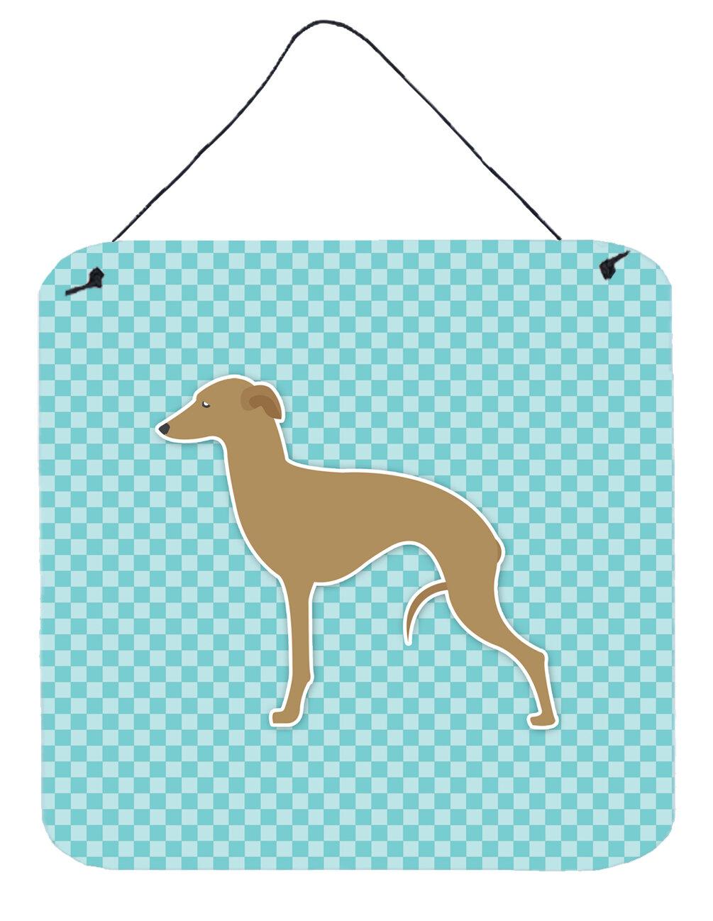 East Urban Home Italian Grayhound Checkerboard Wall Décor   Wayfair