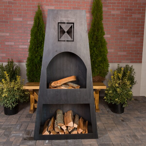 Ember Haus Fire Knight Steel Wood Burning Outdoor