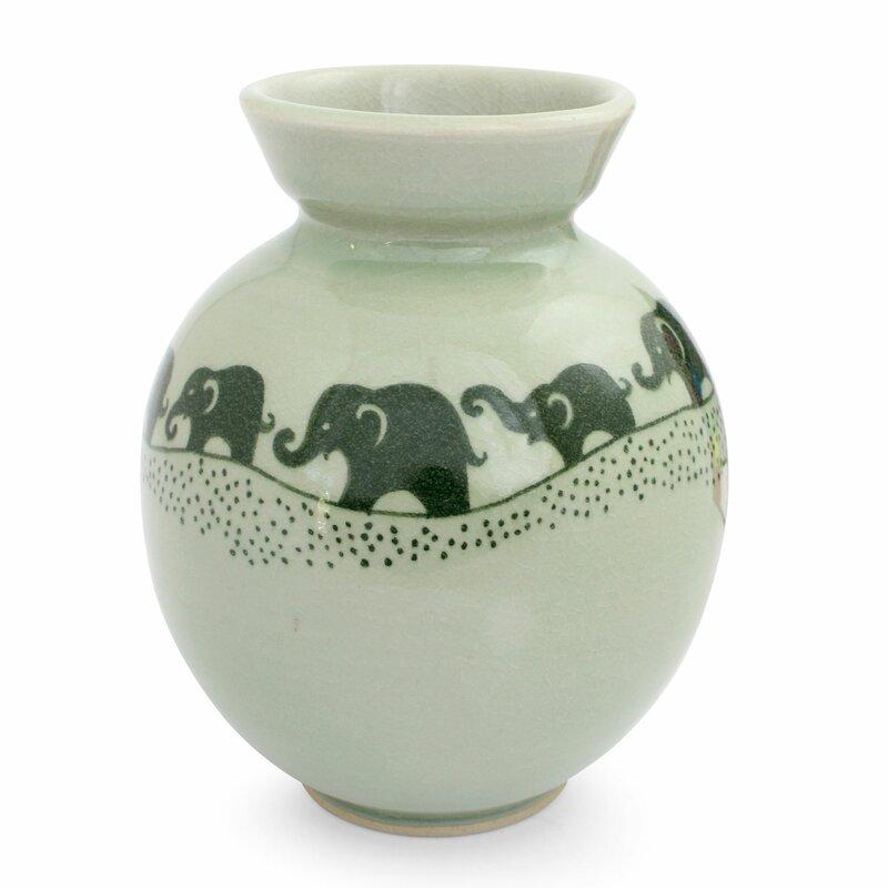 Bloomsbury Market Youmans Ceramic Elephant Table Vase Wayfair