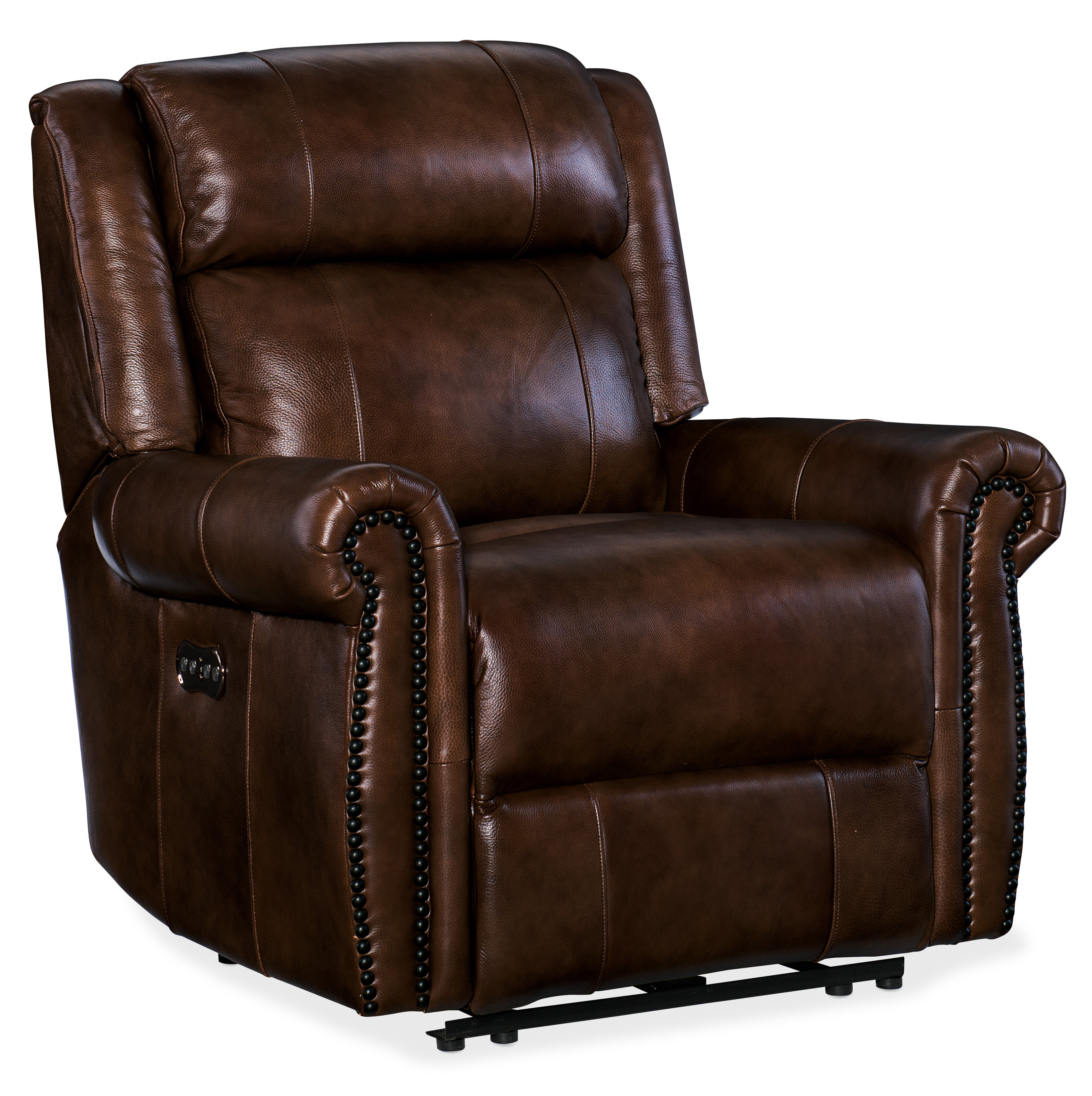 Superbe Hooker Furniture Esme Leather Power Recliner With Power Headrest | Wayfair