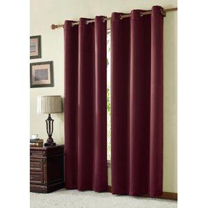Tamara Solid Max Blackout Grommet Single Curtain Panel