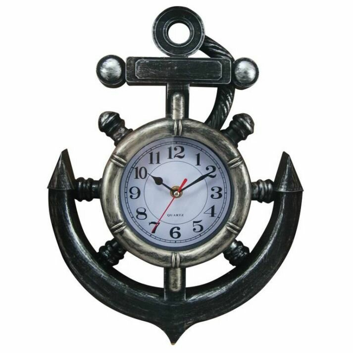 Perfect Anwen Black/Gray Ship Wheel And Anchor 11 Amazing Design